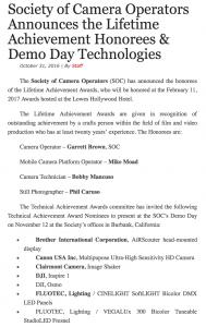 Lifetime Achievement Honorees